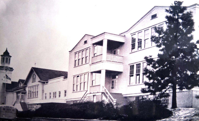 Old Photo of St. John the Baptist Catholic School in Milwaukie, Oregon | Private School in SE Portland